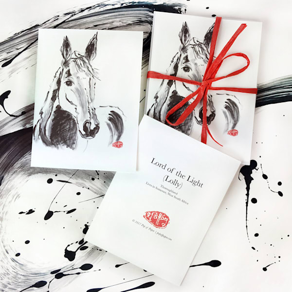 card, note card, horse card, animal lover cards, horses, thoroughbred