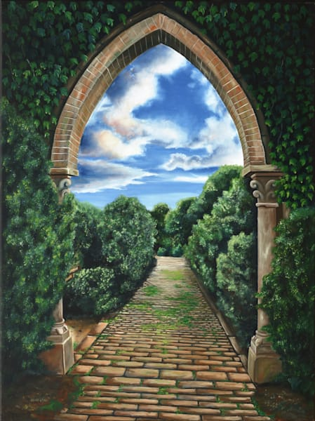 Garden Pathway Art | MMG Art Studio | Fine Art Colorado Gallery