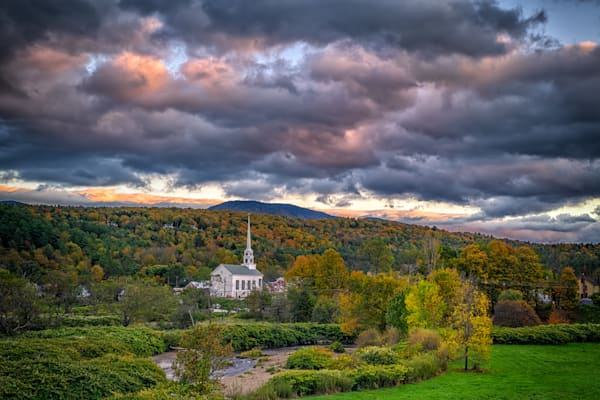 View of Stowe at Dusk | Shop Photography by Rick Berk