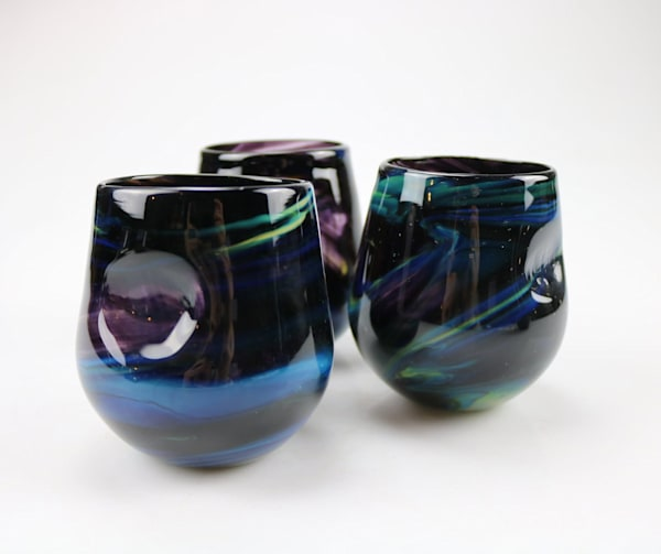 Northern Lights Series Stemless Wine Thumb Tumblers
