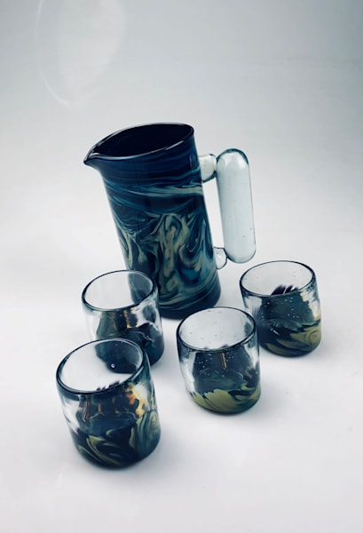 Northern Lights Series   Slanted Pitcher & Tumbler Set Art | artloversgallery