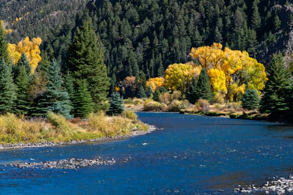 Fall on the Rio Grande River - Colorado photography prints