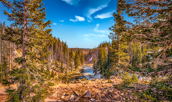 Fall Bridge In Medicine Bow Photography Art | Artist David Wilson