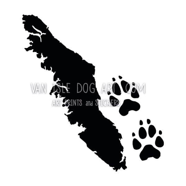 Vancouver Island Paw Prints Sticker