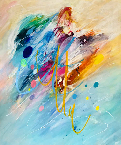 A Happy Dance Painting on Canvas by Artist  Deepa Koshaley