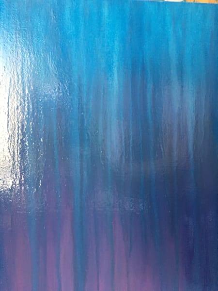 Midnight Mountain Rain Original Oil Painting by Rachel Brask 12x16 inches