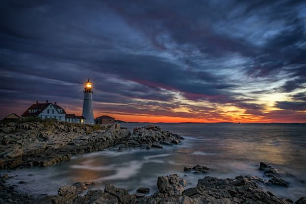Autumn Dawn at Portland Head Light | Shop Photography by Rick Berk