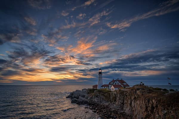 October Sunrise at Portland Head | Shop Photography by Rick Berk