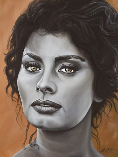 Sofia Loren | Original Oil Painting Art | MMG Art Studio | Fine Art Colorado Gallery