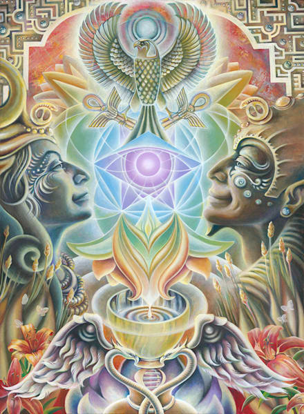 The One Eye Love - Original Painting - The Art of Ishka Lha