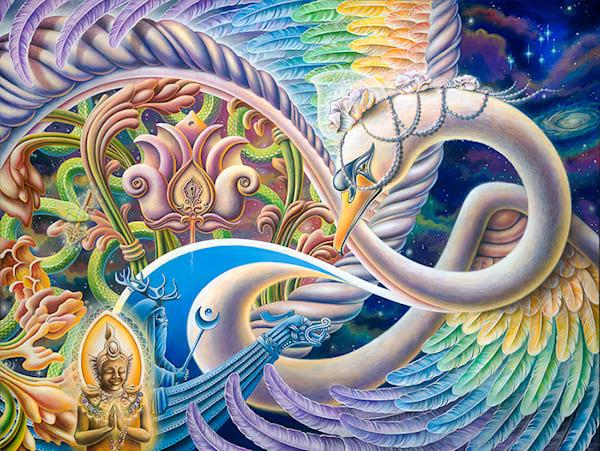 Once I Meta Swan - Original Painting - The Art of Ishka Lha