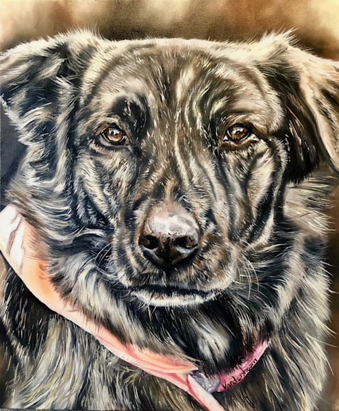 """""""LUCKY GIRL"""" Commissioned Pet Portrait"""