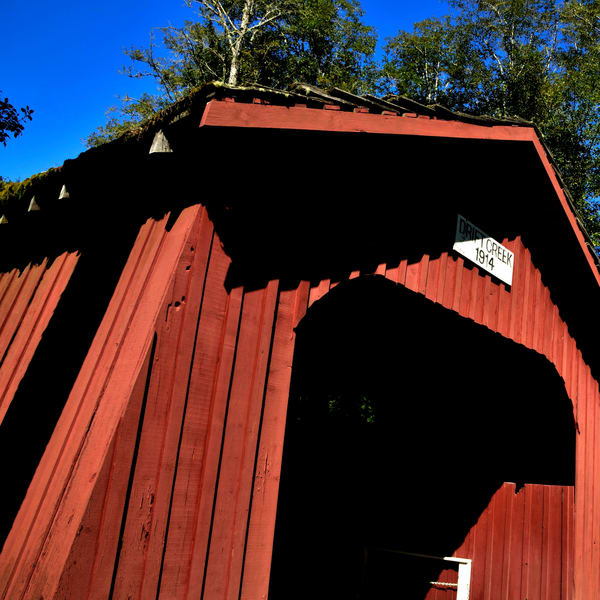 Drift Creek Covered Bridge Exterior