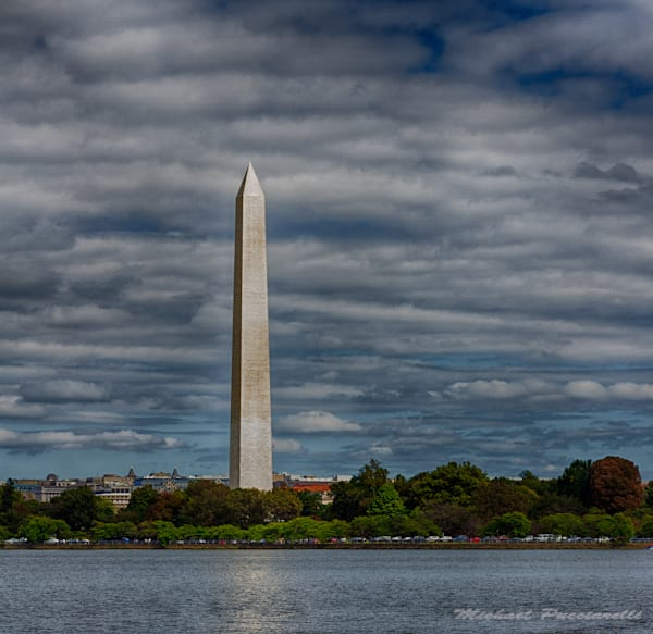 A Fine Art Photograph of the Washington Monument by Michael Pucciarelli