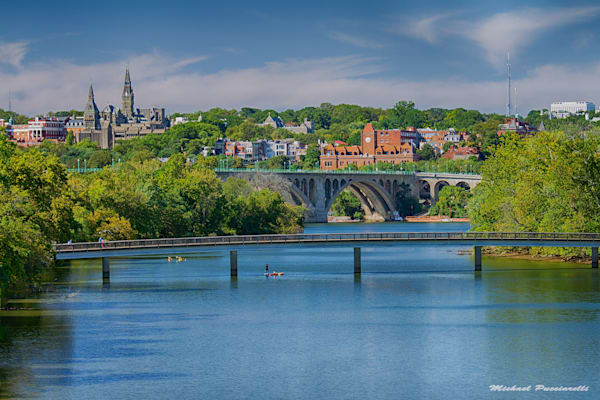 A Fine Art Photograph of Georgetown on a Sunny Afternoon by Michael Pucciarelli