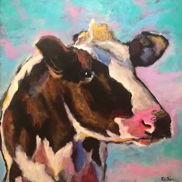 Original Art of Cows | Original Oil Paintings and Prints