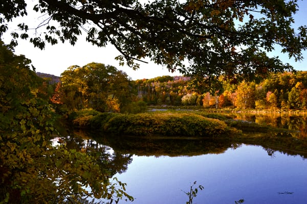 Autumn Island Colors Delaware River