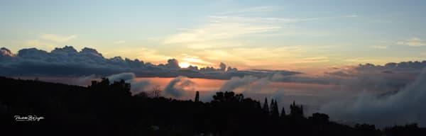 Mountain Mists At Sunset