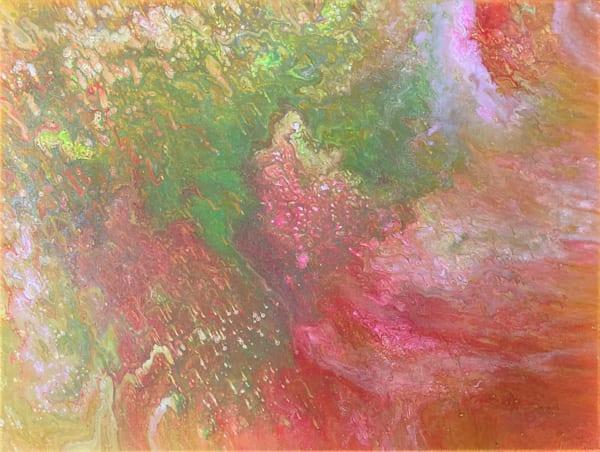 Energy Orbiting fluid acrylic painting