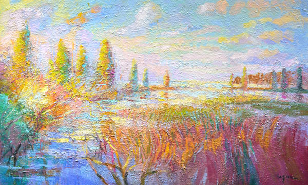 Chesapeake Bay Landscape Painting, Limited Edition Print by Dorothy Fagan