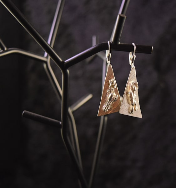 Triangle Abstract Earrings Art | artloversgallery