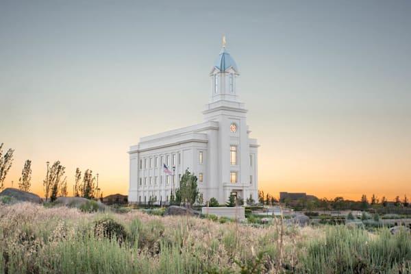 Cedar City Utah Temple - Desert Glow
