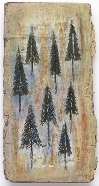 Eight Pines Three Birds Art by mklineart