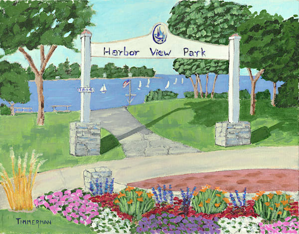 """Harbor View Park"" fine art print by Barb Timmerman."