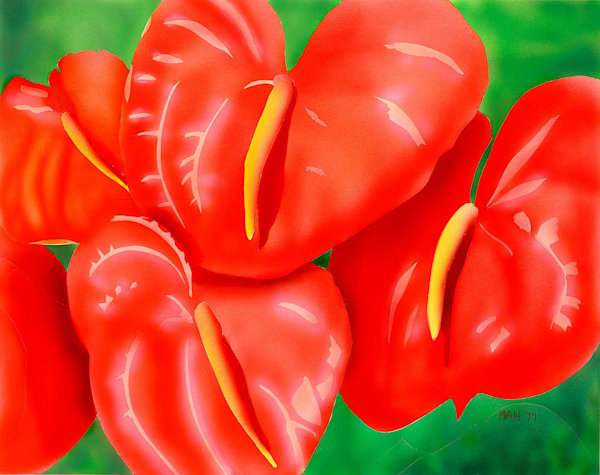 """Anthurium"" fine art print by Mary Anne Hill."