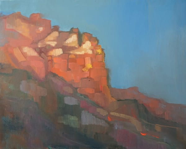 Sunset Glow In Sedona Art | Peg Connery-Boyd Artwork