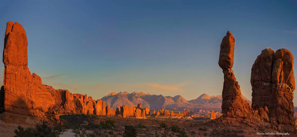 Balanced Rock Sunset Arches National Park Utah | Fine Art Photography prints on Metal and Acrylic Glass