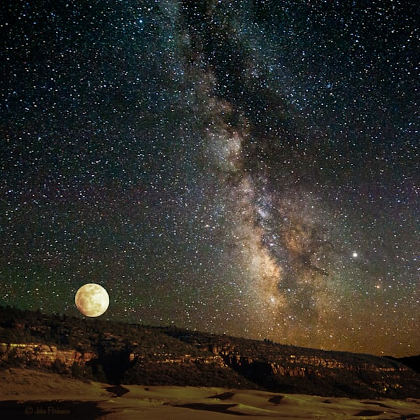 Moon and Milky Way Composite