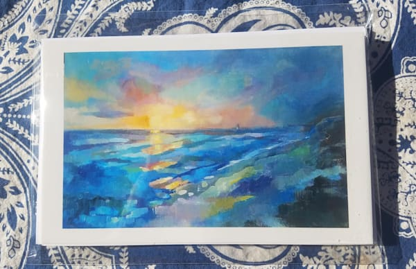"Set Of 4 Notecards   ""Afterglow""  