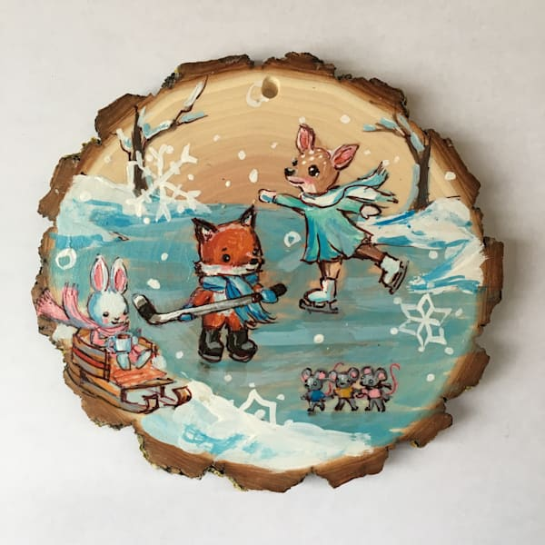 Custom Wood Slice Ornament (3+ Characters) | Jenny Dale Designs