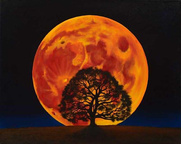 Blood Moon | Original Oil Painting Art | MMG Art Studio | Fine Art Colorado Gallery