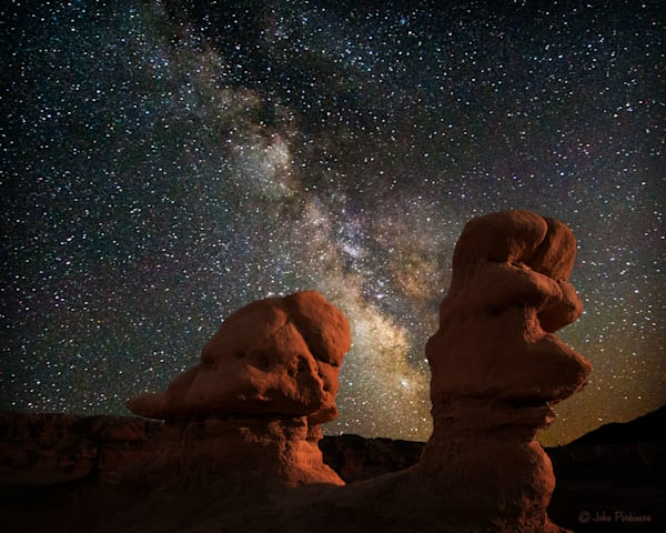 Puppy Gnome at Night in Goblin Valley, Utah