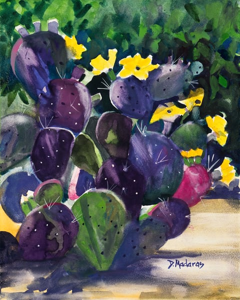 Purple Morning Watercolor by Diana Madaras