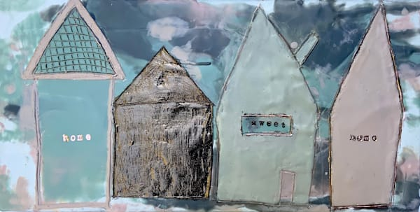 Ode to Home Encaustic and Mixed Media Original Art| Jannet Haitas