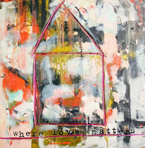 Where Love Matters Encaustic and Mixed Media Original Art| Jannet Haitas
