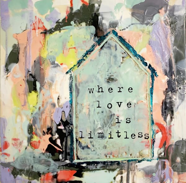 Where Love is Limitless Encaustic and Mixed Media Original Art| Jannet Haitas