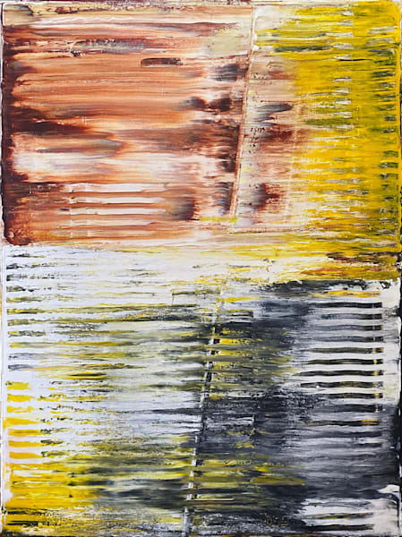 Shuttering abstract PMS acrylic painting