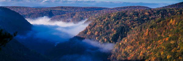 Print of Appalachian Mountains As Fog Fills the Valley