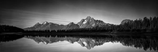 Print of Mt Moran and Reflection in Colter Bay Panorama
