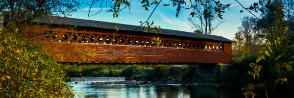 Fine Art Print | Vermont Cover Bridge The Henry Bridge