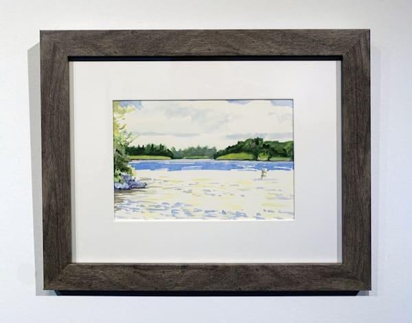Framed Gouache Landscapes