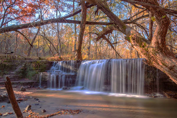 Hidden Falls in Autumn - Waterfall Photography | William Drew Photography