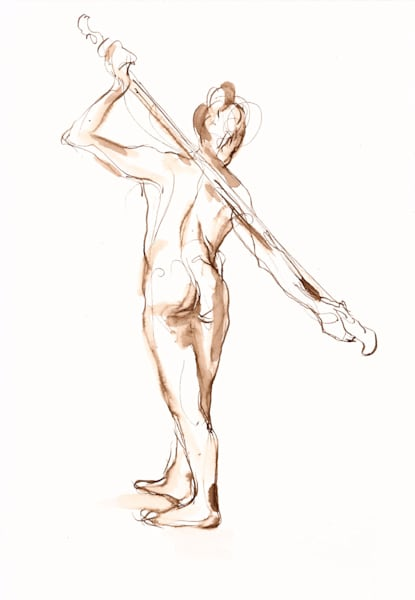 Female Back Figure Drawing
