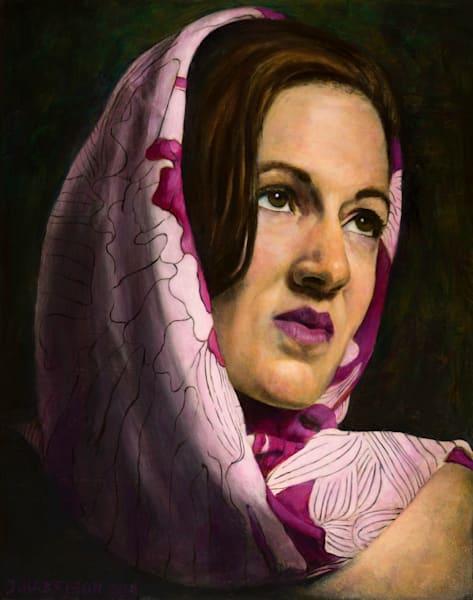 A Madonna (Original Oil Painting On Wood Panel) Art | Jeffrey Harrison Multi-Media Artist