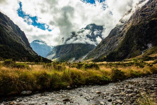 Fine art nature landscape mountains stream