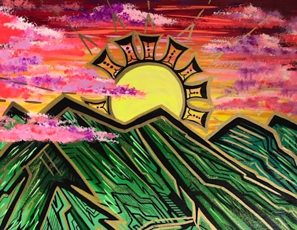 Sunrise By Mountain Art | evoartmaui